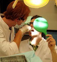 Die gegenseitige Befundaufnahme und Zahnreinigung als Vorbereitung im Rahmen der Vorwoche
